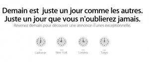 Une Grosse Annonce iTunes Demain!
